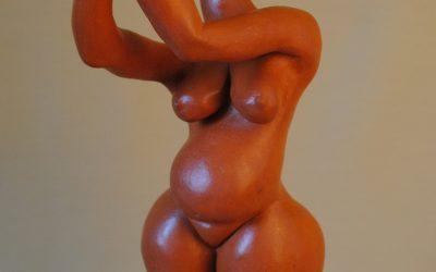 Vénus Rouge – Sculpture Céramique