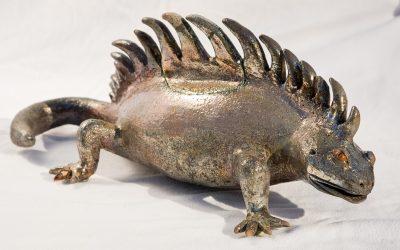 Dragon de Komodo – Sculpture Céramique