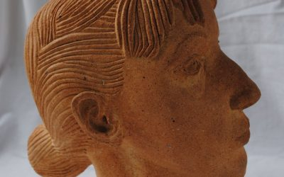 Portrait Caro – Sculpture Céramique