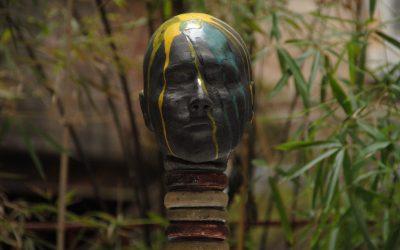 Femme Girafe – Sculpture Céramique